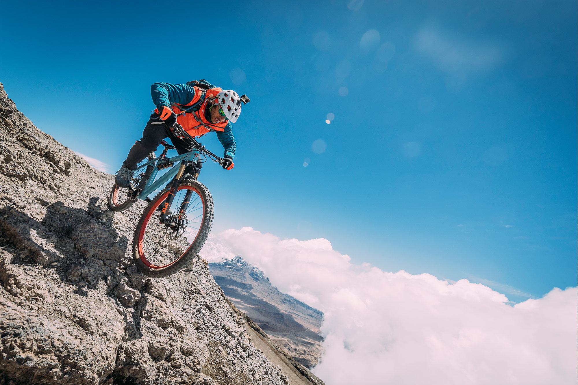 RIDE DOWN MORE THAN <br> 5000 METERS (16000ft)